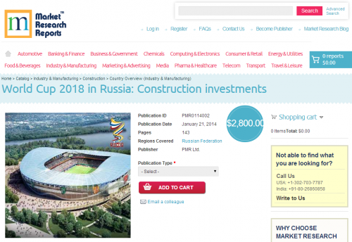 Construction Investments for World Cup in Russia 2018'