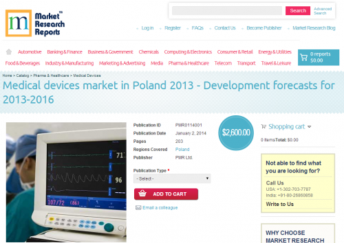 Medical Devices Market in Poland 2013 - 2016'