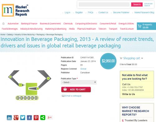 Innovation in Beverage Packaging, 2013'