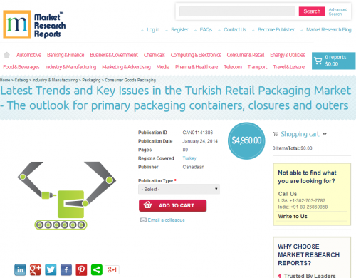 Latest Trends and Key Issues in the Turkish Retail Packaging'