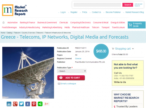 Greece - Telecoms, IP Networks, Digital Media and Forecasts'