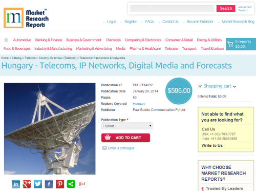 Hungary - Telecoms, IP Networks, Digital Media and Forecasts'