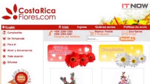 CostaRicaFlores ecommerce solution'