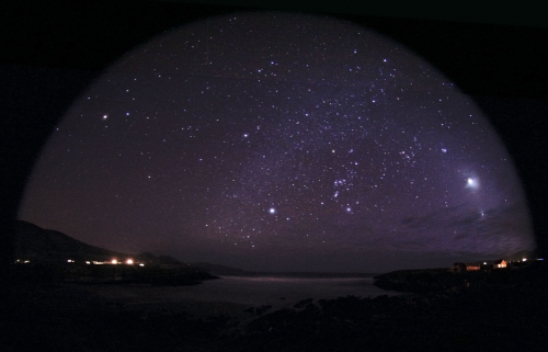 Winter constellations over St. Finian's Bay'