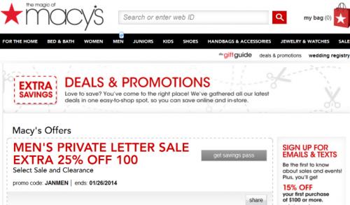 Macys 2014 Deals & Promotions'