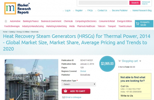Heat Recovery Steam Generators (HRSGs) for Thermal Power'