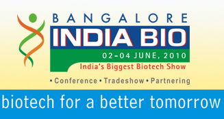 Logo for Bangalore INDIA BIO 2010'