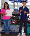 Miss Busaba Koodnok  Mr Sommai Meekomthong Skilsaw Expo'