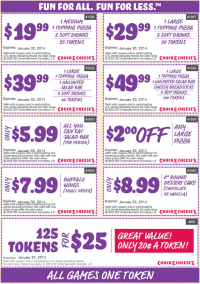 Chuck E Cheese Coupons 2014