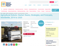 Agricultural Robots: Market Shares, Strategies, and Forecast