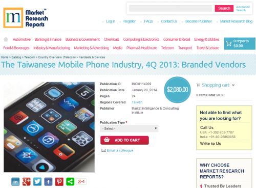 Taiwanese Mobile Phone Industry, 4Q 2013: Branded Vendors'