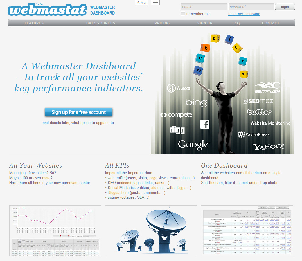 Webmastat - screenshot 1