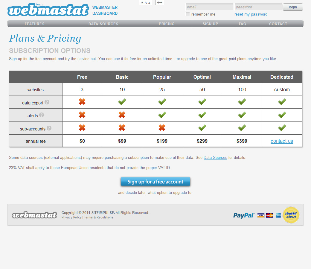 Webmastat - screenshot 2
