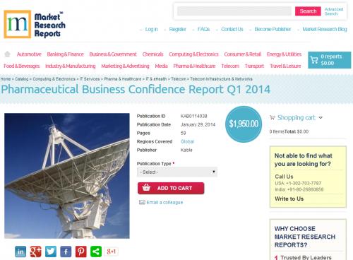 Pharmaceutical Business Confidence Report Q1 2014'