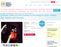 Insulated Cable and Wire Markets in the World to 2018
