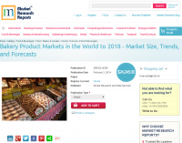 Bakery Product Markets in the World to 2018
