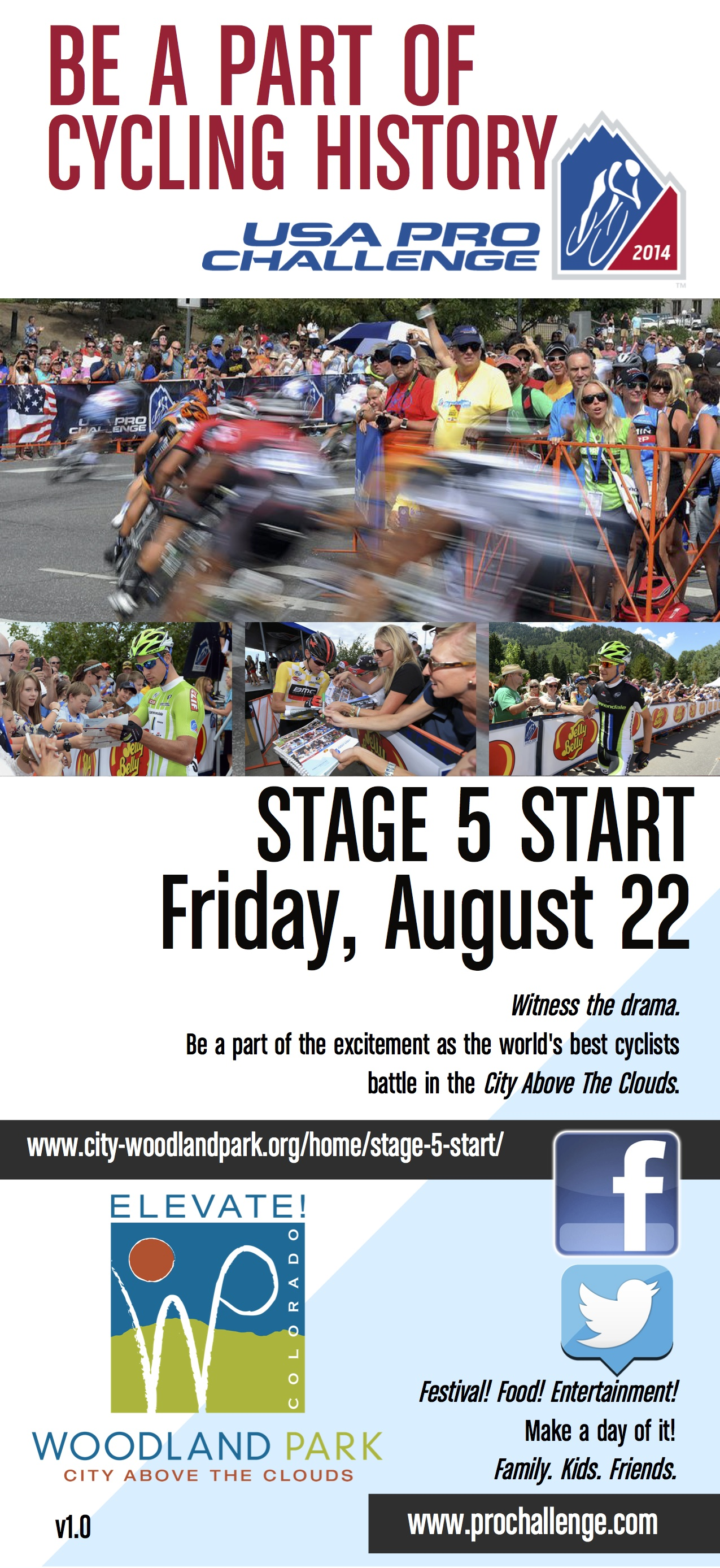 Rack Card Stage 5 Start- USA Pro Challenge