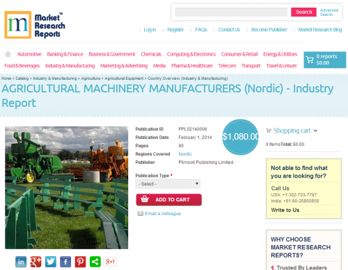 Agricultural Machinery Manufacturers in Nordic'