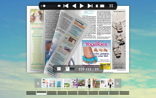 Page flipping magazine'