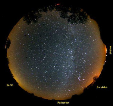 The Milky Way and winter constellations over Westhavelland'