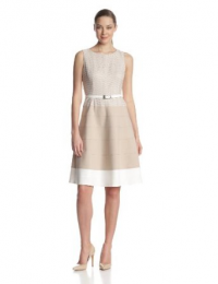 Anne Klein Women's Zigzag Lace Colorblock Swing Dress