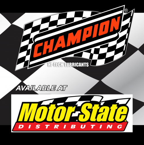 Champion Now Available at Motor State'