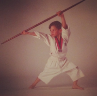 Old AWMA® photograph - Kid Karate Uniform.