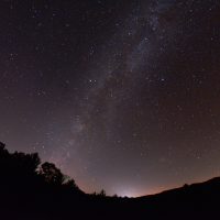 The Milky Way above Blue Ridge Observatory and Star Park