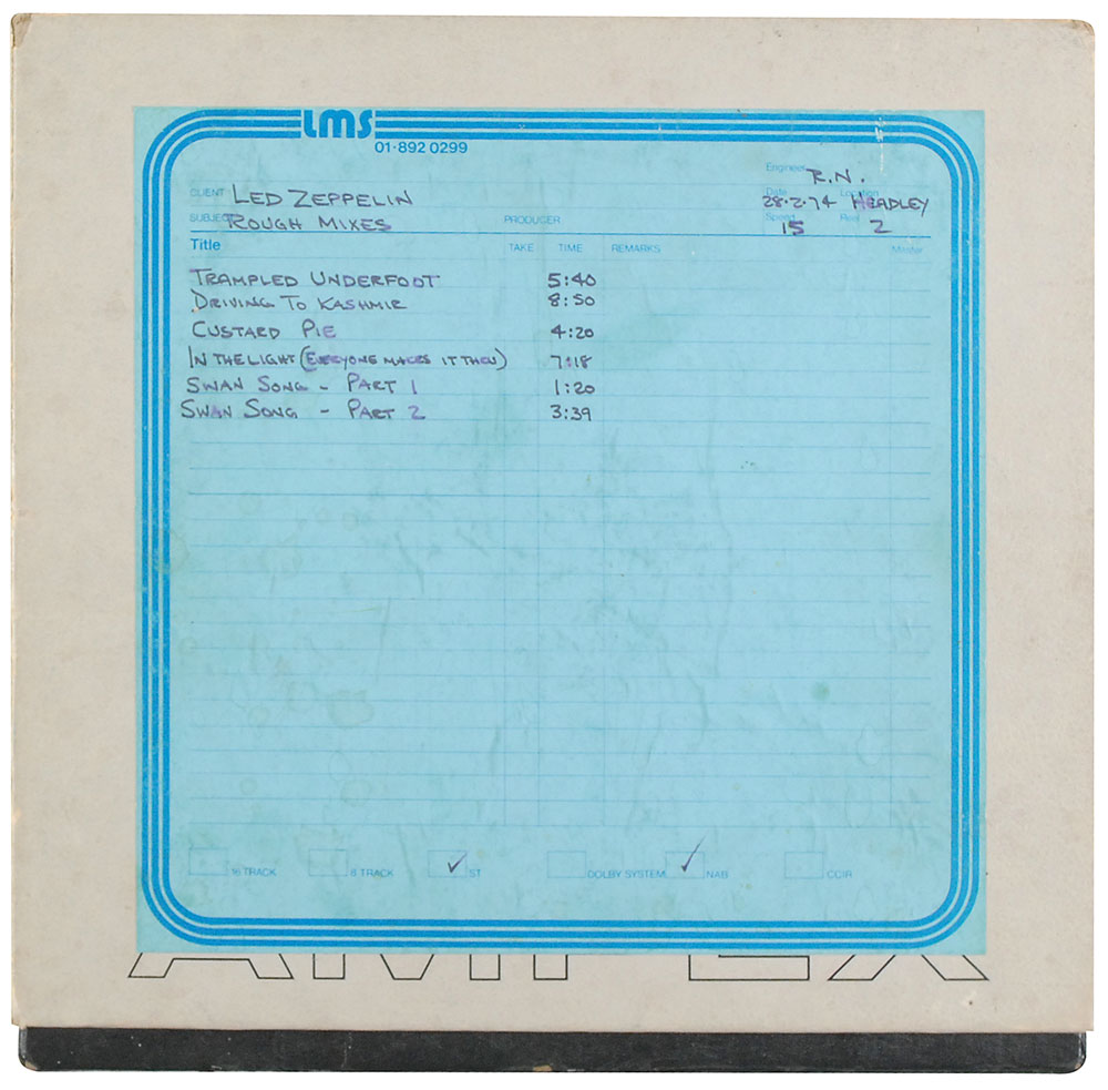 Amazing 1974 rough mixes of Physical Graffiti