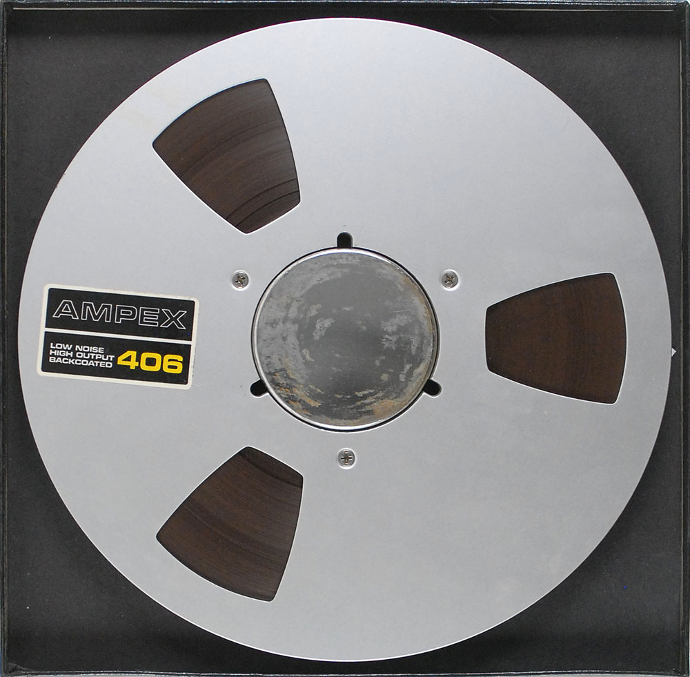 Vintage 10″ tape reel of Led Zeppelin