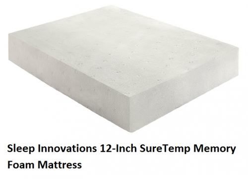 Sleep Innovations 12-Inch SureTemp Memory Foam Mattress'