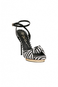 Alice + Olivia Black White Stripe 'Petra' Ankle St