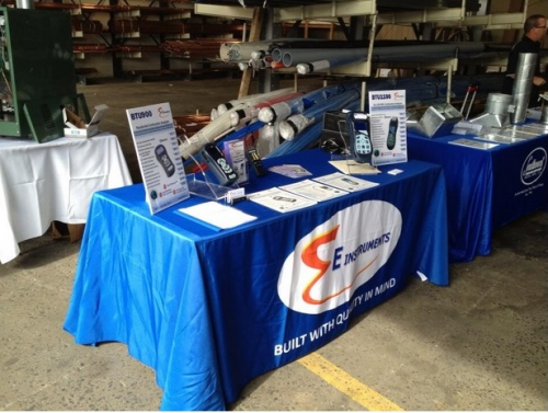 E Instruments Booth At Heat-Fest In Oct. 2013'