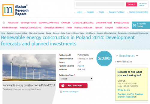 Renewable Energy Construction in Poland 2014'