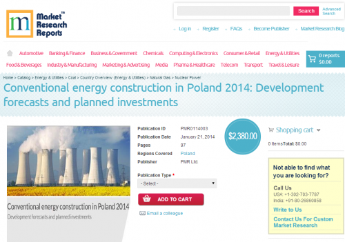 Conventional Energy Construction in Poland 2014'