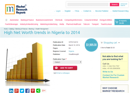 High Net Worth trends in Nigeria to 2014'