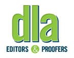 DLA Editors & Proofers Logo