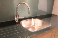 Granite Worktops Feature: Recessed Drainage Panel &