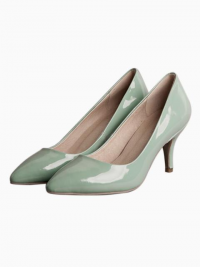 Pastel Green Patent Point Heels