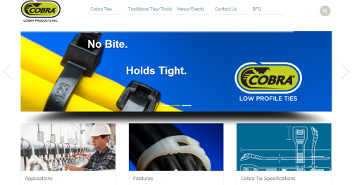 Cobra Products New Website Designed by Grant Marketing'