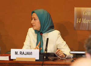 Maryam Rajavi International Meeting on alarming Human Rights