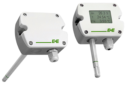 EE210 transmitters are available for wall or duct mounting a