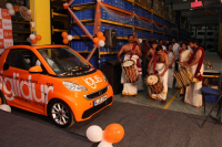 Welcome of the car at the igus India factory