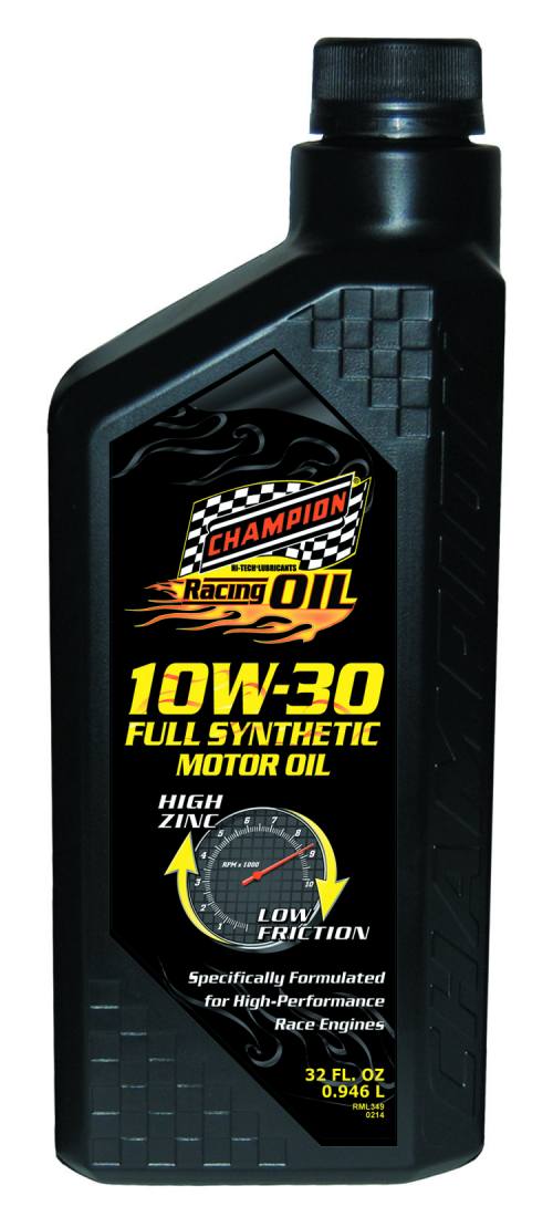 Champion 10W-30 Full Synthetic Racing Motor Oil'
