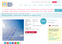 Photovoltaic Generator Market in India 2014