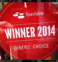 Thank you OpenTable for this wonderful accolade!