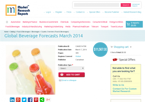 Global Beverage Forecasts March 2014'
