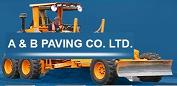 Logo for A & B PAVING LTD'