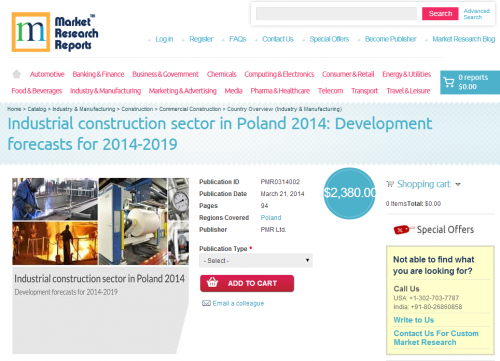 Industrial construction sector in Poland 2014'