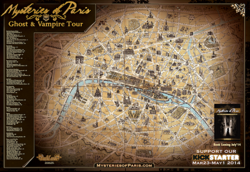 Mysteries Of Paris Map.'